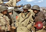 Image of flag presentation ceremony Cherbourg Normandy France, 1944, second 29 stock footage video 65675020906