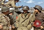 Image of flag presentation ceremony Cherbourg Normandy France, 1944, second 32 stock footage video 65675020906