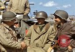Image of flag presentation ceremony Cherbourg Normandy France, 1944, second 34 stock footage video 65675020906