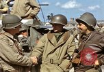 Image of flag presentation ceremony Cherbourg Normandy France, 1944, second 35 stock footage video 65675020906