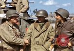 Image of flag presentation ceremony Cherbourg Normandy France, 1944, second 36 stock footage video 65675020906