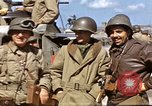 Image of flag presentation ceremony Cherbourg Normandy France, 1944, second 37 stock footage video 65675020906
