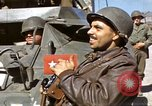 Image of flag presentation ceremony Cherbourg Normandy France, 1944, second 38 stock footage video 65675020906