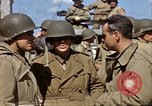 Image of flag presentation ceremony Cherbourg Normandy France, 1944, second 46 stock footage video 65675020906