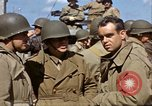 Image of flag presentation ceremony Cherbourg Normandy France, 1944, second 47 stock footage video 65675020906