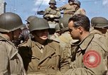 Image of flag presentation ceremony Cherbourg Normandy France, 1944, second 49 stock footage video 65675020906