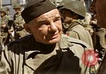 Image of flag presentation ceremony Cherbourg Normandy France, 1944, second 51 stock footage video 65675020906