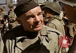 Image of flag presentation ceremony Cherbourg Normandy France, 1944, second 52 stock footage video 65675020906