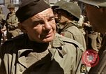 Image of flag presentation ceremony Cherbourg Normandy France, 1944, second 53 stock footage video 65675020906