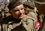 Image of flag presentation ceremony Cherbourg Normandy France, 1944, second 54 stock footage video 65675020906
