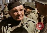 Image of flag presentation ceremony Cherbourg Normandy France, 1944, second 55 stock footage video 65675020906