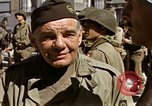 Image of flag presentation ceremony Cherbourg Normandy France, 1944, second 56 stock footage video 65675020906