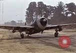 Image of P-47 and P-38 aircraft operating from St.Mere Eglise Saint Mere Eglise France, 1944, second 9 stock footage video 65675020911