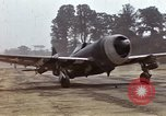 Image of P-47 and P-38 aircraft operating from St.Mere Eglise Saint Mere Eglise France, 1944, second 10 stock footage video 65675020911