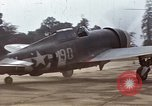 Image of P-47 and P-38 aircraft operating from St.Mere Eglise Saint Mere Eglise France, 1944, second 17 stock footage video 65675020911