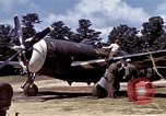 Image of P-47 and P-38 aircraft operating from St.Mere Eglise Saint Mere Eglise France, 1944, second 22 stock footage video 65675020911