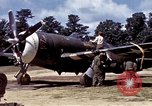Image of P-47 and P-38 aircraft operating from St.Mere Eglise Saint Mere Eglise France, 1944, second 24 stock footage video 65675020911