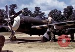 Image of P-47 and P-38 aircraft operating from St.Mere Eglise Saint Mere Eglise France, 1944, second 25 stock footage video 65675020911