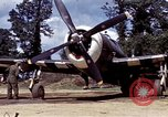 Image of P-47 and P-38 aircraft operating from St.Mere Eglise Saint Mere Eglise France, 1944, second 28 stock footage video 65675020911