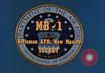 Image of MB-1 rocket Holloman Air Force Base New Mexico USA, 1956, second 7 stock footage video 65675020956