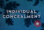 Image of Individual concealment United States USA, 1942, second 22 stock footage video 65675020985