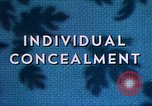 Image of Individual concealment United States USA, 1942, second 24 stock footage video 65675020985
