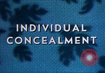 Image of Individual concealment United States USA, 1942, second 25 stock footage video 65675020985