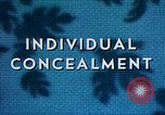 Image of Individual concealment United States USA, 1942, second 26 stock footage video 65675020985