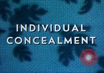 Image of Individual concealment United States USA, 1942, second 27 stock footage video 65675020985