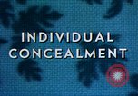 Image of Individual concealment United States USA, 1942, second 28 stock footage video 65675020985