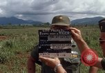 Image of Major Fiacco of US Army discussing sniper training Vietnam, 1967, second 6 stock footage video 65675021014