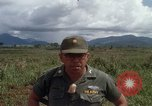 Image of Major Fiacco of US Army discussing sniper training Vietnam, 1967, second 50 stock footage video 65675021014