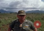 Image of Major Fiacco of US Army discussing sniper training Vietnam, 1967, second 51 stock footage video 65675021014