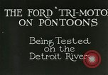 Image of Ford Tri Motor Detroit Michigan USA, 1927, second 4 stock footage video 65675021027