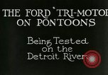 Image of Ford Tri Motor Detroit Michigan USA, 1927, second 5 stock footage video 65675021027