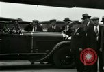 Image of Ford Tri Motor plane and Lincoln cars United States USA, 1928, second 42 stock footage video 65675021030