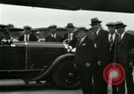 Image of Ford Tri Motor plane and Lincoln cars United States USA, 1928, second 43 stock footage video 65675021030
