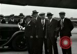 Image of Ford Tri Motor plane and Lincoln cars United States USA, 1928, second 45 stock footage video 65675021030