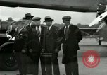 Image of Ford Tri Motor plane and Lincoln cars United States USA, 1928, second 47 stock footage video 65675021030
