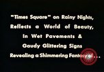 Image of Times Square neon lights New York City USA, 1954, second 5 stock footage video 65675021109