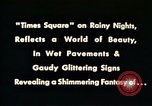 Image of Times Square neon lights New York City USA, 1954, second 11 stock footage video 65675021109