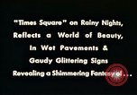 Image of Times Square neon lights New York City USA, 1954, second 12 stock footage video 65675021109