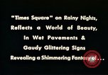 Image of Times Square neon lights New York City USA, 1954, second 13 stock footage video 65675021109