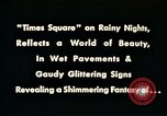 Image of Times Square neon lights New York City USA, 1954, second 14 stock footage video 65675021109