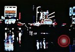 Image of Times Square neon lights New York City USA, 1954, second 24 stock footage video 65675021109