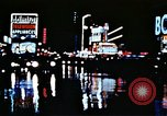 Image of Times Square neon lights New York City USA, 1954, second 31 stock footage video 65675021109