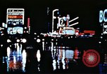 Image of Times Square neon lights New York City USA, 1954, second 32 stock footage video 65675021109