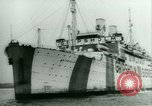 Image of Ship Gripsholm delivers Americans freed from internment by Germany New York City USA, 1944, second 8 stock footage video 65675021166
