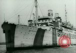 Image of Ship Gripsholm delivers Americans freed from internment by Germany New York City USA, 1944, second 9 stock footage video 65675021166