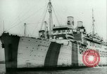 Image of Ship Gripsholm delivers Americans freed from internment by Germany New York City USA, 1944, second 10 stock footage video 65675021166